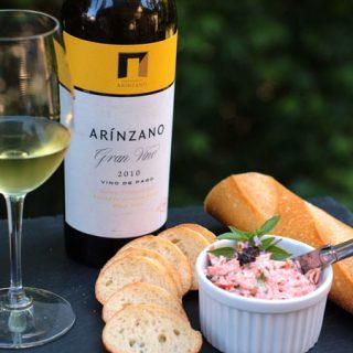Smoked Salmon Spread Paired with Arínzano Gran Vino Chardonnay