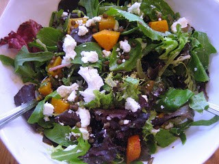 Butternut Squash, Lentil and Goat Cheese Salad