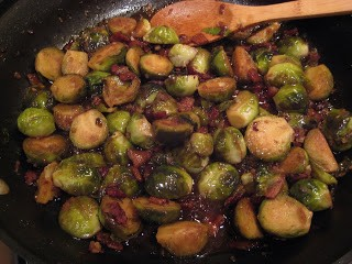 Balsamic Brussels Sprouts with Smoked Applewood Bacon