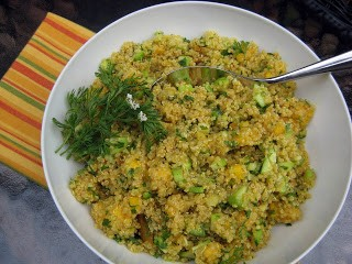 Quinoa Salad with Mango, Curry and Cucumber