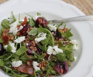 Arugula Cherry Farro Salad