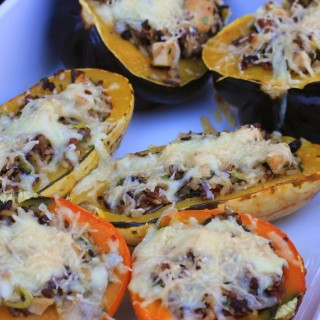 Roasted Stuffed Squash