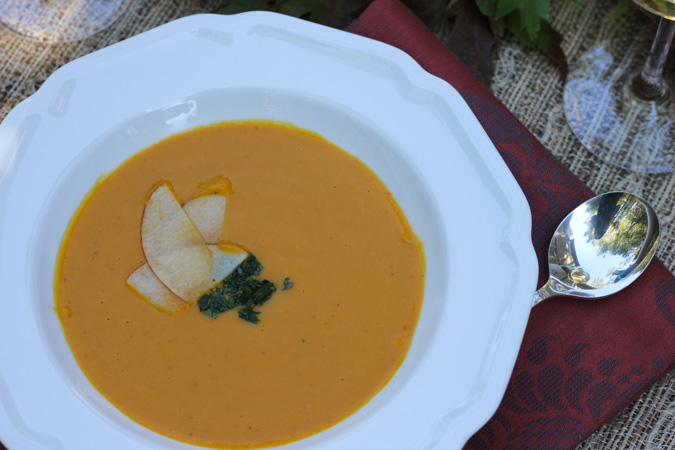 Kabocha Squash Soup with Coconut Milk