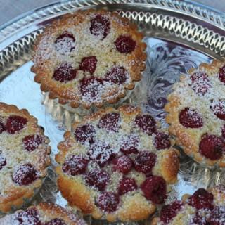 Raspberry Frangipane Tartlets