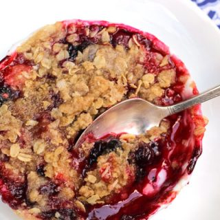 Berry Lavender Crumble