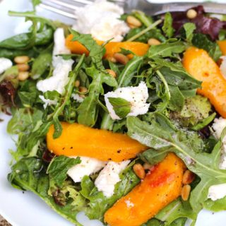 Peach Salad with Agrodolce Dressing