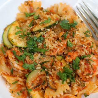 Shrimp and Zucchini Pasta