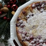Simple Butter Cake with Cranberries and Pears