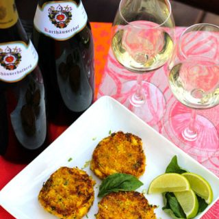 Spiced Crab Cakes with Karthäuserhof Riesling