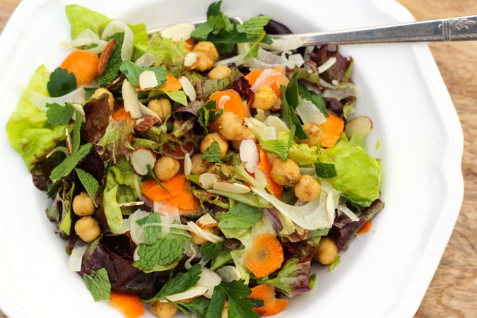 Spring Fennel Carrot Salad with Orange Sherry Vinaigrette
