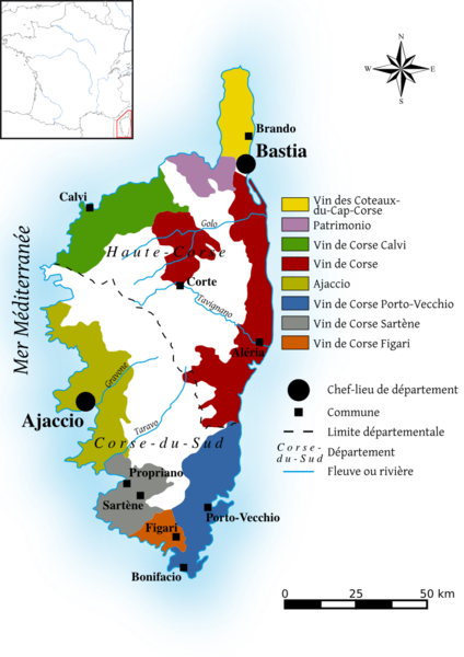 Wine Growing Regions Of Corsica