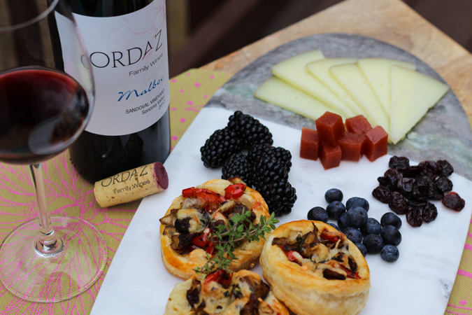 Malbec pairing: Shiitake, onion, pepper and Manchego Tartlets