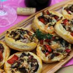 Shiitake, Onion, Pepper and Manchego Tartlets