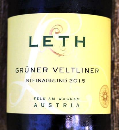 2015 Leth Grüner Veltliner Steinagrund