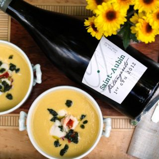 Saint-Aubin Premier Cru Paired with Corn and Lobster Chowder