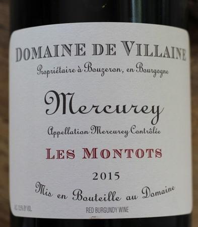 2015 Domaine Villaine Mercurey Les Montots