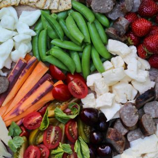 Wisconsin Summer Cheese Board with Beer Boiled Brats