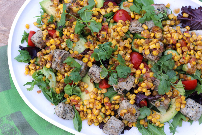 Char-Grilled Tuna Salad with Toasted Corn Vinaigrette