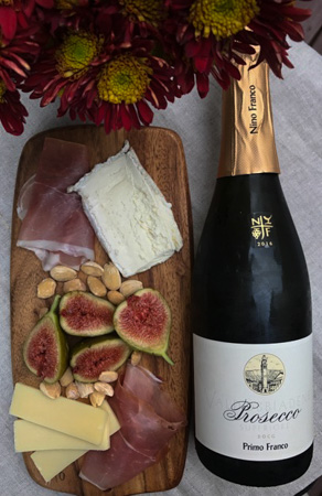 Prosecco Paired with Small Savory Plates