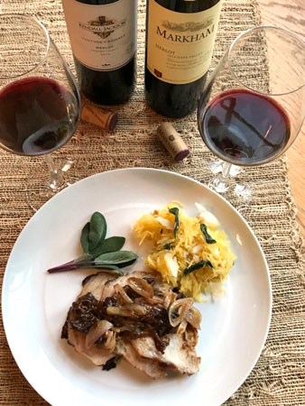 Roasted Pork Loin and Brandy Prune Sauce Paired with Merlot #WinePW #MerlotMe