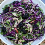Red Cabbage Blackberry Caraway Slaw