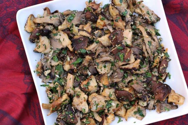 Roasted Mushrooms with Gremolata Seasonings