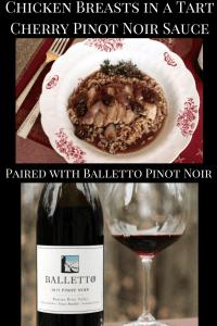 Chicken Breasts in a Tart Cherry Pinot Noir Sauce