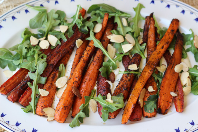 Coffee & Five-Spice Roasted Carrots