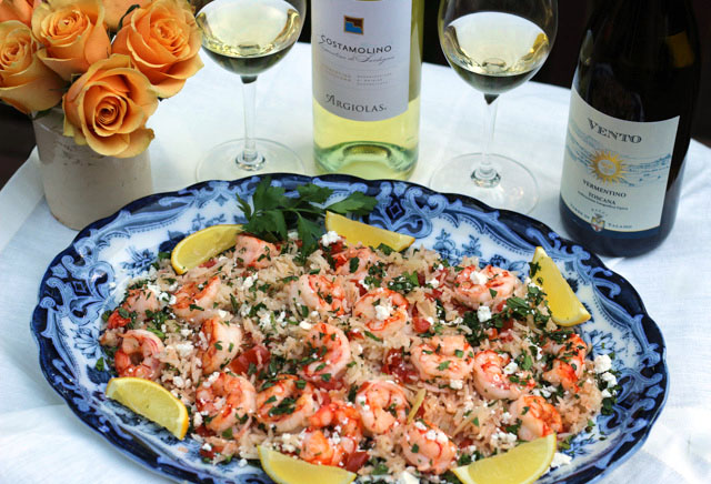 Which Vermentino to Pair with Shrimp & Fresh Herb Pilaf