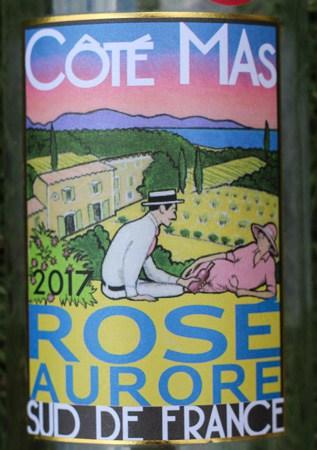 2017 Côté Mas Rosé Aurore - wine label