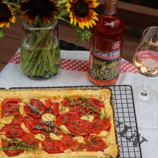 Tomato Tart Paired with Rosé
