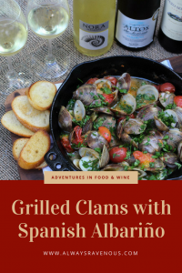 Grilled Clams with Spanish Albariño