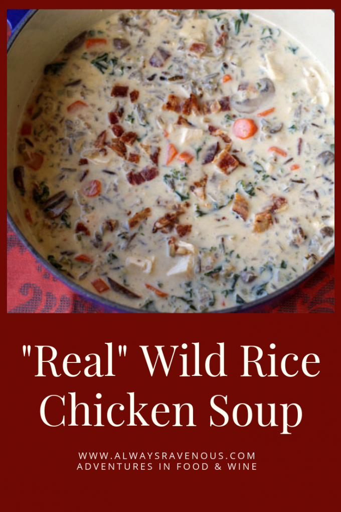 """""""Real"""" Wild Rice Chicken Soup"""