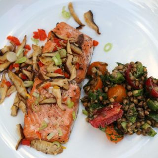 Roasted Salmon with Shiitake Mushrooms