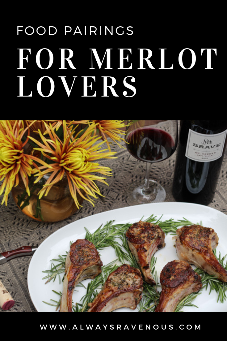 Food pairings for Merlot Lovers;  Starting with these delicious classic lamb chops with rosemary and garlic.