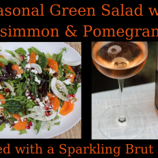Green Salad with Persimmon and Pomegranate