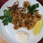 Spiced Calamari paired with Crémant d'Alsace