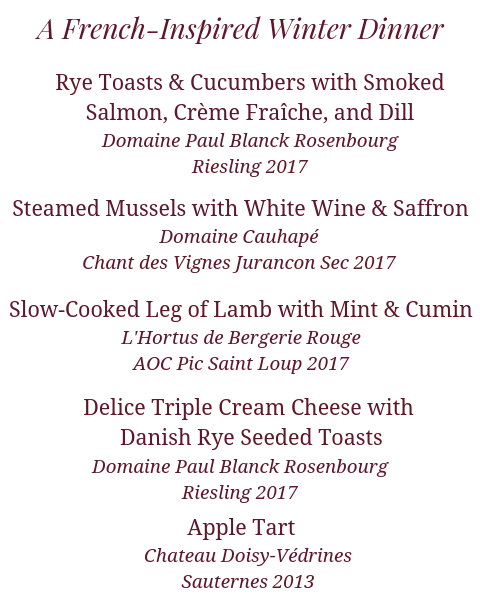 A French-Inspired Winter Wine Dinner