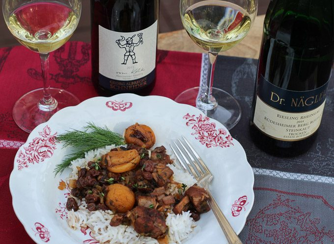 Winter Pork & Fruit Ragout with German Riesling