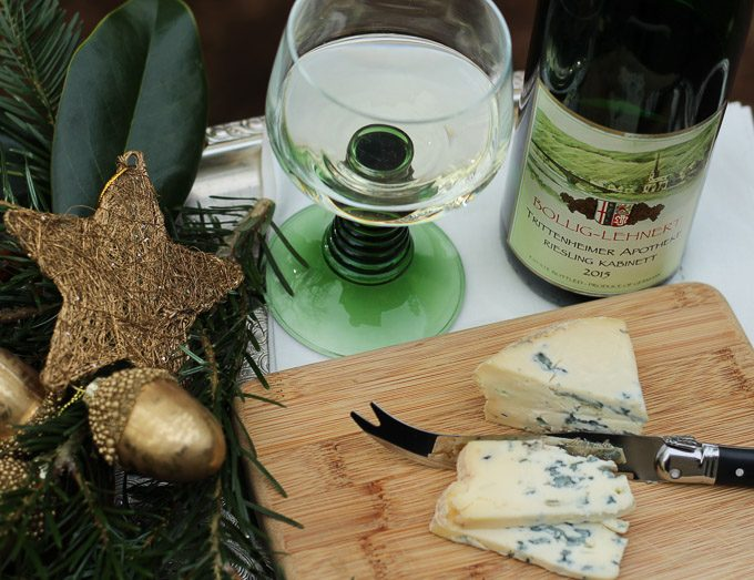 Fourme d' Ambert with German Riesling