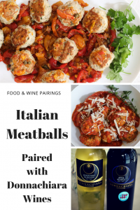 Italian Meatballs with Donnachiara Wines