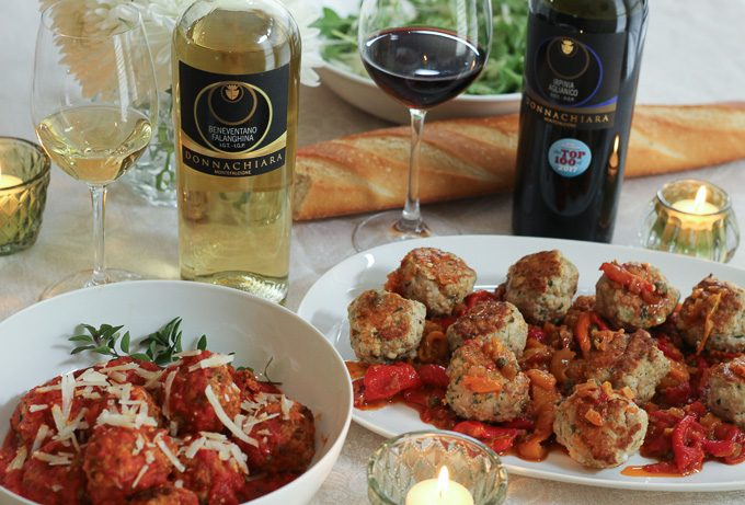 Italian Meatballs with Donnachiara Wines