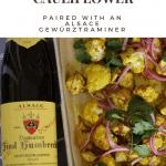 Domaine Zind Humbrecht Gewürztraminer paired with Sheet Pan Curry Chicken & Cauliflower