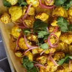 Sheet Pan Curry Chicken and Cauliflower