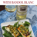 Halibut & Meyer Lemon Olive Salsa with Bandol Blanc