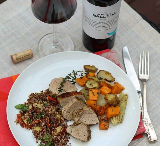 Uruguayan Tannat Paired with a Winter Plate