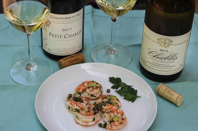 Pairing Chablis with Marinated Shrimp