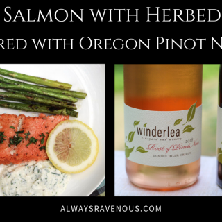 Alaskan Salmon with Herbed Ricotta and Oregon Pinot Noir #WinePW