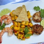 Shrimp, Scallops, and Mango Salsa
