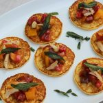 Corn Cakes with Fresh Tomatoes and Fried Sage